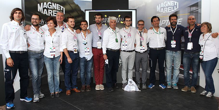 Magneti Marelli team celebrates the innovation spirit of the five finalists